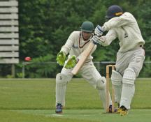 Vinoo Tewarie plays through point