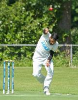 Ali Ahmed bowling on radar