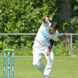 Ali Ahmed bowling on radar