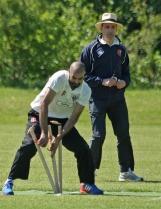 Faisal Iqbal converts Bukhari's throw
