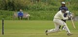 Very forward defence by Leon Turmaine
