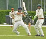 Kohli belts the ball through midwicket