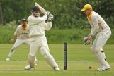 George Dunlop hits fine to leg