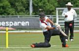Ahmed hits a six