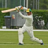 A classic cover drive by Hafeez