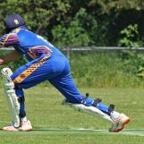 Bajwa plays to Street at second slip and is caught