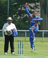 SuleimanTariq opening the bowling for Punjab