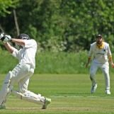 Dunlop hits a big six at the end of the innings
