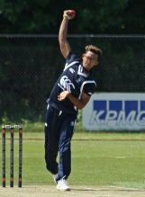 Jay Bista opens the bowling for Quick