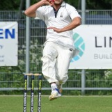 Vivian Kingma flies in to bowl