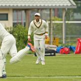 Shirase Rasool goes after the bowling