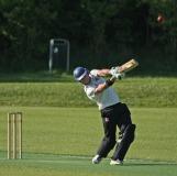 Atse Buurman hits a straight six