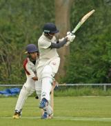 Aryen Kumar plays around his legs