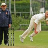George Dunlop bowling