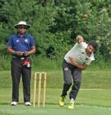 Mudassar Bukhari bowling for Sparta