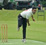 Bell bowling from the Pavilion End
