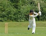 Hilditch plays a blistering shot to midwicket...