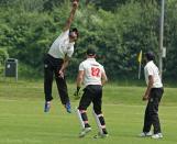 Faisal Iqbal saves four runs off a bump ball
