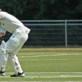 Michael Rippon is bowled by Westdijk
