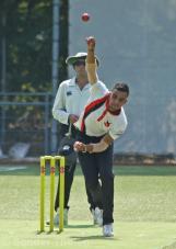 Navjit Singh bowling