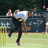 Farshad Khan on his way to 4 for 35