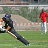 Sharn Gomes is bowled