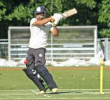 Bukhari dispatches the ball through square