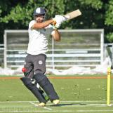 Bukhari dispatches the ball through square