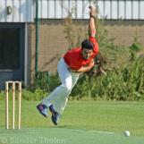 Sikander Zulfiqar bowling