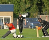 Swept high to the square leg boundary