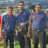 Today's umpires Nitti, Akram and Din