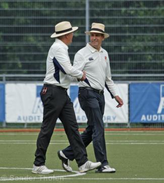 Umpires Van Liemt and Jansen