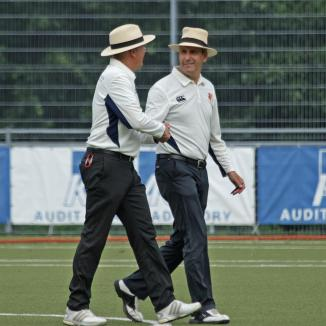 Umpires Van Liemt and Jansen