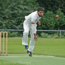Ali Ahmed Qasim bowling