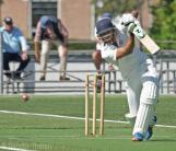Rehmet Zulfiqar plays a strong drive