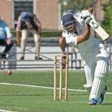 Rehmet Zulfiqar plays a strong drive