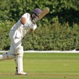 Vikramjit Singh plays an on drive