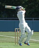 Rehmet hits the ball out of the ground