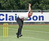 Ferdi Vink on his way to 3 for 15 from 10
