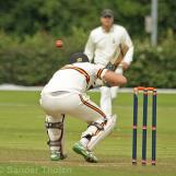 Van Baren ducks under a fine Gunning bouncer