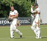 A very important partnership for the ninth wicket of 52 runs