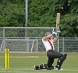 Jaron Morgan hits high over cover