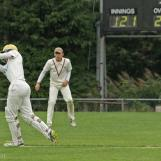 Gorlee hits over mid wicket