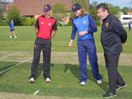 At the toss