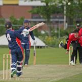 ...and over midwicket