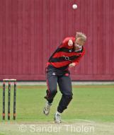 Pierce Fletcher bowling