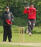 Usman Saleem from the Paddock End