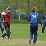 Ben Cooper off the mark with a straight drive