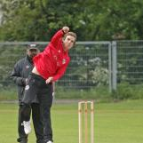 Andrew Fletcher spins it from the Pavilion End