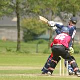 Steve Nottle pulls for a boundary